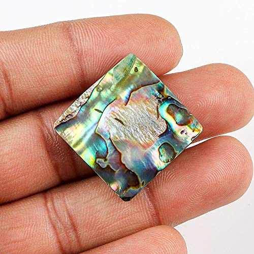 54+ cts Abalone Shell Crystal, Ocean Shell, Abalone Cabochon, Natural Abalone, Abalone Gemstone, Abalone for Wire Wrapping and Jewelry, Abalone for Pendant, Home Decor and to Gift, 25x25mm