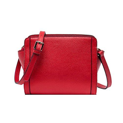 Yy.f Nuevos Bolsos De Mano Bolsa De Mensajero Del Hombro De La Moda Salvaje Ciervos Alas De Personalidad Simples Pequeño Bolso 3 Colores Red