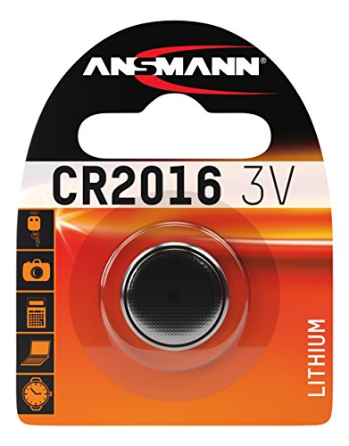 ANSMANN CR2016 Coin Cell Button Cell Battery with high Capacity for Door Opener, Clocks, radios, Remote Controls, Telephones, etc. (1-Pack) ()