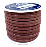 Lace Lacing Leather Suede Dark Brown 25 Yard Spool