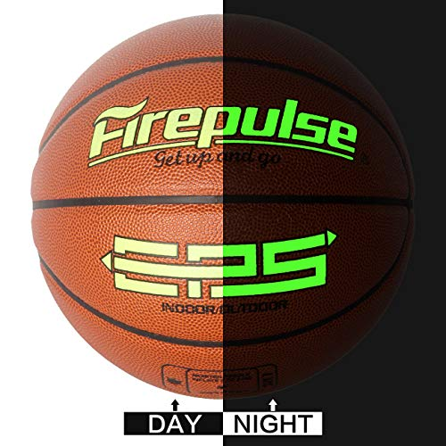 FIREPULSE EPS Basketball/Official Size 7(29.5'')/Indoor&Outdoor Composite Leather Game Basketballs with Free Air Pump,Needles,Basketball Carry Bag