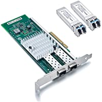 For Intel X520-DA2 10GbE Converged Network Adapter (NIC) + 2pcs Intel E10GSFPLR Compatible 10GBase-LR Transceiver Kit
