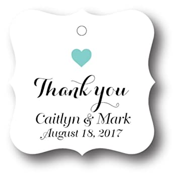72 thank you personalized wedding favor tag gift tags bridal shower favor tag