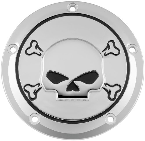 Biker's Choice Derby Cover Chrome with Skull 19-008 (Derby Cover Primary)