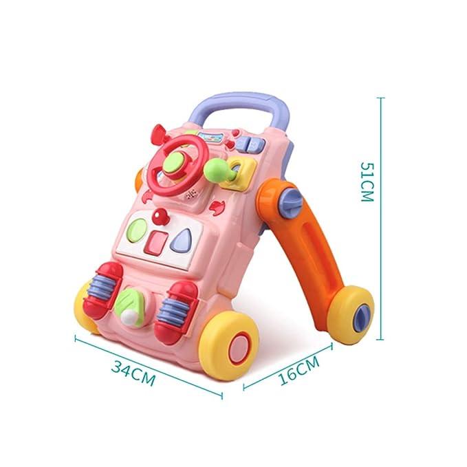 Trolley para niños Caminador Multifuncional de Cuatro Ruedas ...