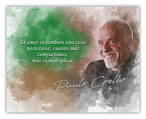 Cosa Misteriosa: Cuanto Más Compartimos Más Se Multiplica Paulo Coelho Inspirational Quote - 8 x 10 Unframed Print - Great Gift For Spanish Teachers, Novelists, Writers - Wall Art ()