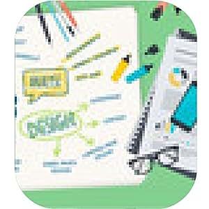 alfombrilla de ratón ilustración, diseño, concepto plana para el diseño web - ronda - 20cm