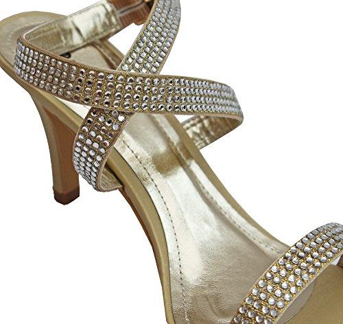 Pink Label - Zapatos de vestir para mujer Dorado dorado