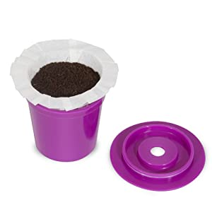Perfect Pod EZ-Cup 2.0 Reusable Filter Cup with 25 Paper Filters