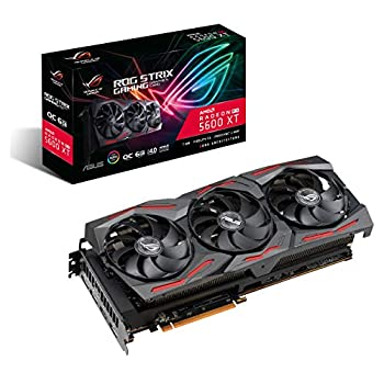 Image of ASUS ROG Strix AMD Radeon RX 5600 XT OC Edition Gaming Graphics Card (PCIe 4.0, 6GB, GDDR6 Memory, HDMI, DisplayPort, Axial-tech Fan Design, Metal Backplate (ROG-STRIX-RX5600XT-O6G-GAMING) Graphics Cards