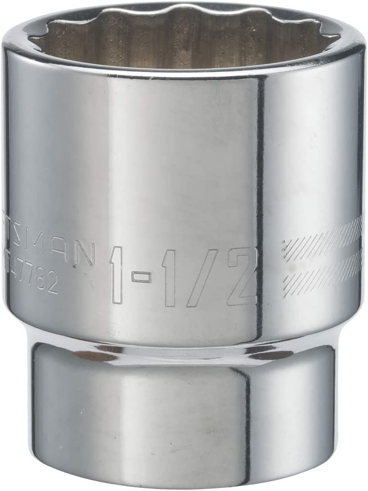 6-Point SAE CRAFTSMAN Shallow Socket 7//8-Inch 3//8-Inch Drive CMMT43013