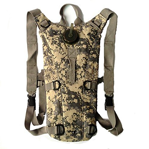 Lifeunion Ultimate Military Hydration Pack Bladder for Hunting Hiking Climbing, 2.5 L Bladder Capacity, Adjustable Shoulder Strap & Emergency Carry Handle (ACU Camo)