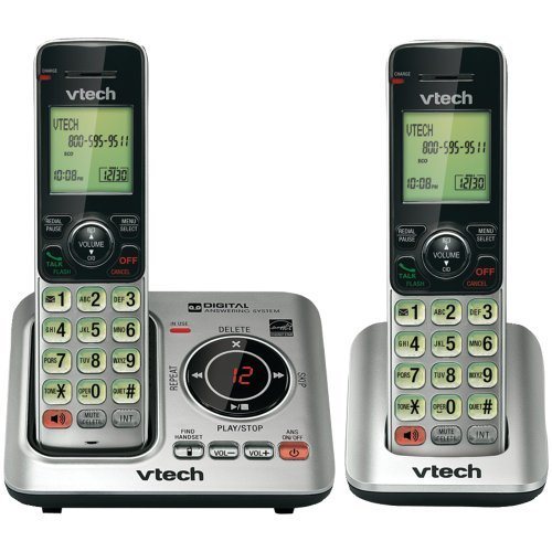 VTECH VTCS6629-2 DECT 6.0 Expandable Speakerphone with Caller ID (2-Handset System) electronic consumer