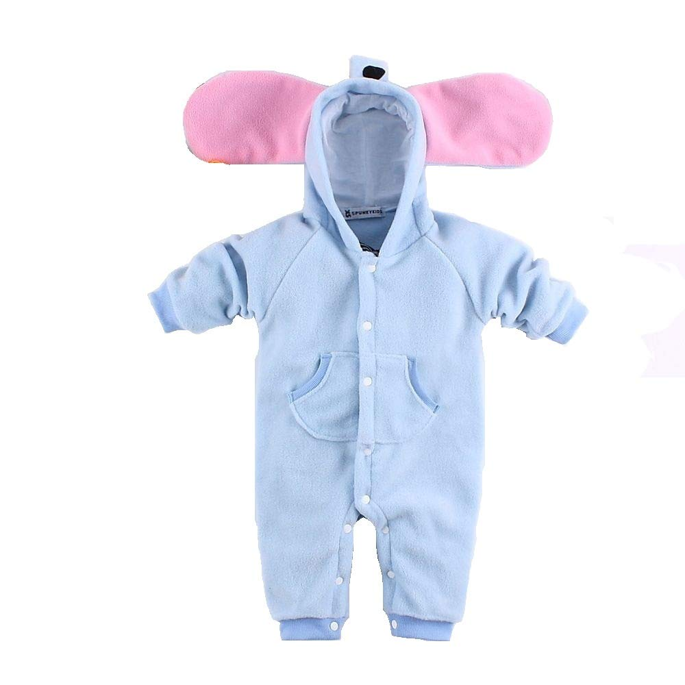 Hooyi Baby Winter Thick Hoodies Fleece Romper Tiger Zebra Pajamas Jumpsuit Outfits for Kids