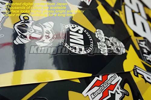 Amazon.com: Kungfu Graphics Six 6 Days Pattern Custom Decal Kit for 125 150 250 350 450 SX SXF SX-F XCF XC-F 2013 2014, Red Blue Black: Automotive