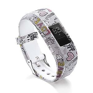 Replacemet Silicone Watch Band Strap for Garmin Vivofit Jr/Jr 2 Kids' Fitness