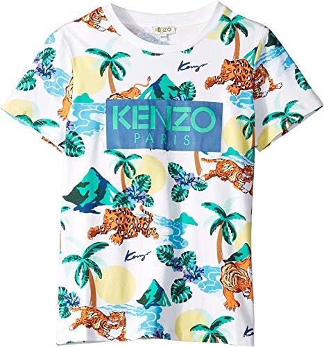 Kenzo Kids Boy's All Over Printed Summer Tee (Big Kids) White 10 from Kenzo Kids