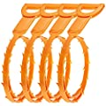 4 Pack Hair Drain Clog Remover, SENHAI Drain Snake Equipment/Auger type Cleaning Tool