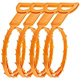 SENHAI Hair Drain Clog Remover, 4 Pack Drain Snake Equipment/Auger type Cleaning Tool