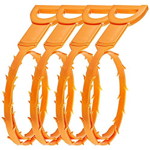 4 Pack Hair Drain Clog Remover, SENHAI Drain Snake Equipment/Auger type Cleaning - Drain Equipment Cleaning
