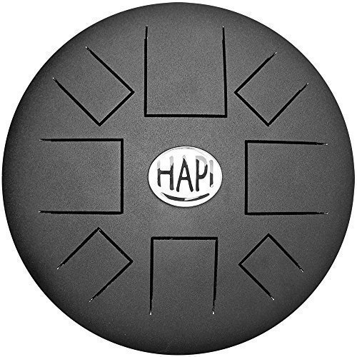 HAPI HDSLIMGMJ Steel Drum - G Major Slim Tongue Percussion Hand Drum with FREE padded travel bag, by HAPI