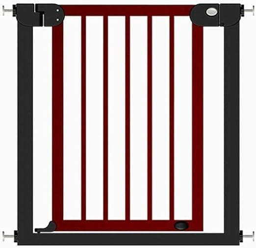 Barandilla bebé Puerta de seguridad de madera Puertas de bebé en el interior Puerta para escaleras Puerta Presión Montado Extra Ancho Perro gato mascota Puerta 76-153 cm Ancho Altura 77 cm Escalera: