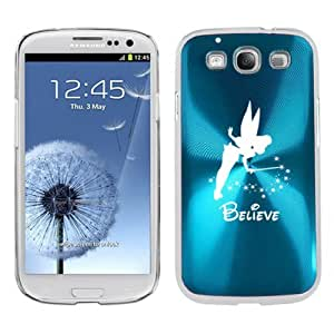 Light Blue Samsung Galaxy S III S3 Aluminum Plated Hard Back Case Cover K366 Fairy Believe