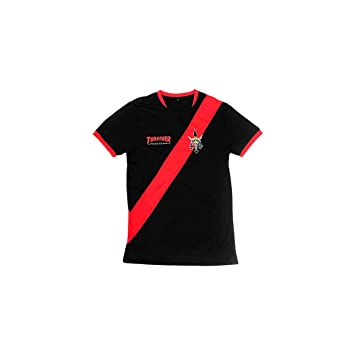 479e34d6f6d Image Unavailable. Image not available for. Color: Thrasher Futbol Jersey  SS Tshirt S-Black/RED