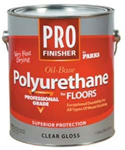 Rust-Oleum 130514 Parks Pro Finish Polyurethane Finish, Quart, Clear Gloss