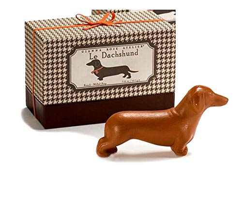 Le Dachshund Dog Shaped French Milled Hand Soap