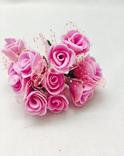 Eerafashionicing Pink Colour Felt Flowers Roses Artificial Flowers Hair Accessories Designing Home Decor Hobby Craft Amazon In Home Kitchen