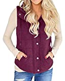 quilted plaid vest - Valphsio Women's Casual Slim Fall Lightweight Plaid Down Vest Outdoor Puffer Quilted Vest Jacket with Zipper