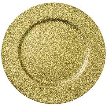 Amazon Com Decorative Glitter Charger Plate 13 Quot Round