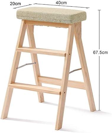 SGMYMX Escalera Banco de 2 Pasos - Madera - diseño Plegable fácil de Guardar - Adecuado para el hogar/Cocina/Garaje Escalera (Color : K): Amazon.es: Hogar