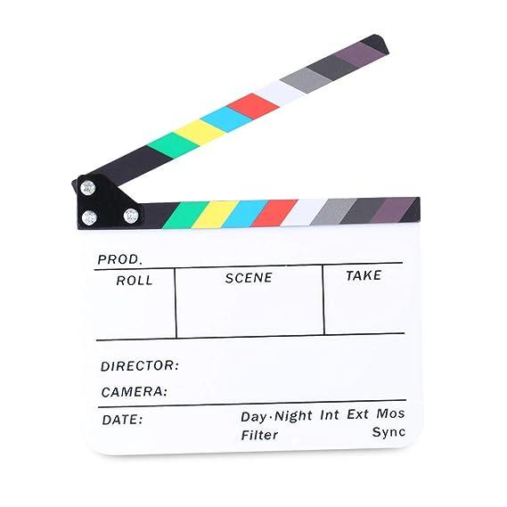 Neewer 25 x 20 cm de acrílico para Pizarra Director es de Pantalla tromboangeítis Pizarra con Varillas de Color