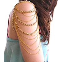 AutumnFall® New Fashion Women Three Tassels Chain Upper Arm Cuff Arm Chain Jewelry