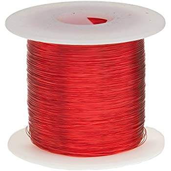 """Remington Industries 28SNSP Magnet Wire, Enameled Copper Wire, 28 AWG, 1.0 lb., 2027' Length, 0.0135"""" Diameter, Red"""