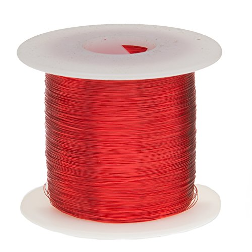 Remington Industries 27SNSP 27 AWG Magnet Wire, Enameled Copper Wire, 1.0 lb, 0.0151'' Diameter, 1601' Length, Red