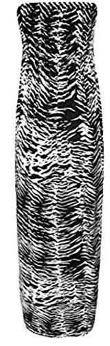 Womens Plus Size Polka Dot Print Sheering Maxi Dress (ML, Zebra Print)