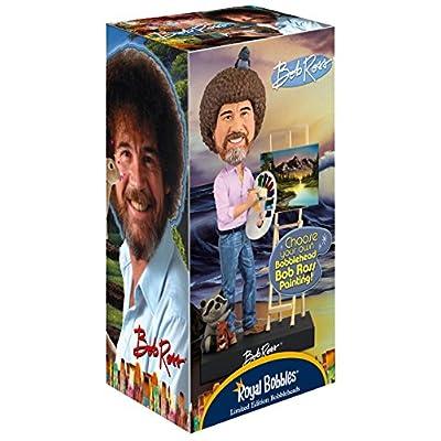 Royal Bobbles Bob Ross Bobblehead, Collectible Bobblehead Figurines: Toys & Games