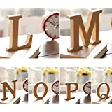 Aimeart Decorative Alphabet Set A to Z Wood Letter Set Prop for Wedding Birthday Prom Party Shower Decoration Photo Booth Prop, N