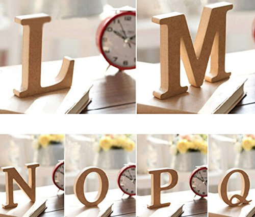 Aimeart Decorative Wood Alphabet Letter Prop for Wedding Birthday Prom Party Shower Decoration Photo Booth Prop, Letter (Decorative Letters)