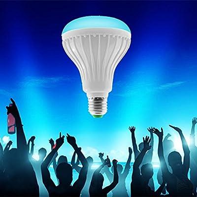 Bluetooth Control Smart Music Audio Speaker LED RGB Color Bulb Light Lamp by MUITOBOM