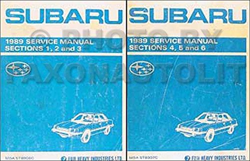 1989 Subaru DL and GL Repair Shop Manual Set ()
