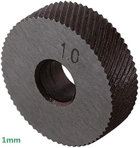 NO LOGO Rändelwerkzeug Rad Linear Pitch Knurl Set Stahl Drehmaschine Schneidrad Rändelwerkzeug Set Dual-Rad-Tool Kit 7tlg 0.5mm 1mm 2mm Heben