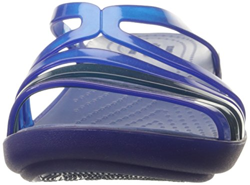 Para Mujer Azul Isabella cebl Pantuflas Wedge Mini Crocs WTvO8gwqBx