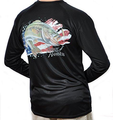- All-American Fishing Performance Dri Fit Shirt - Men's Long Sleeve X-Large Black
