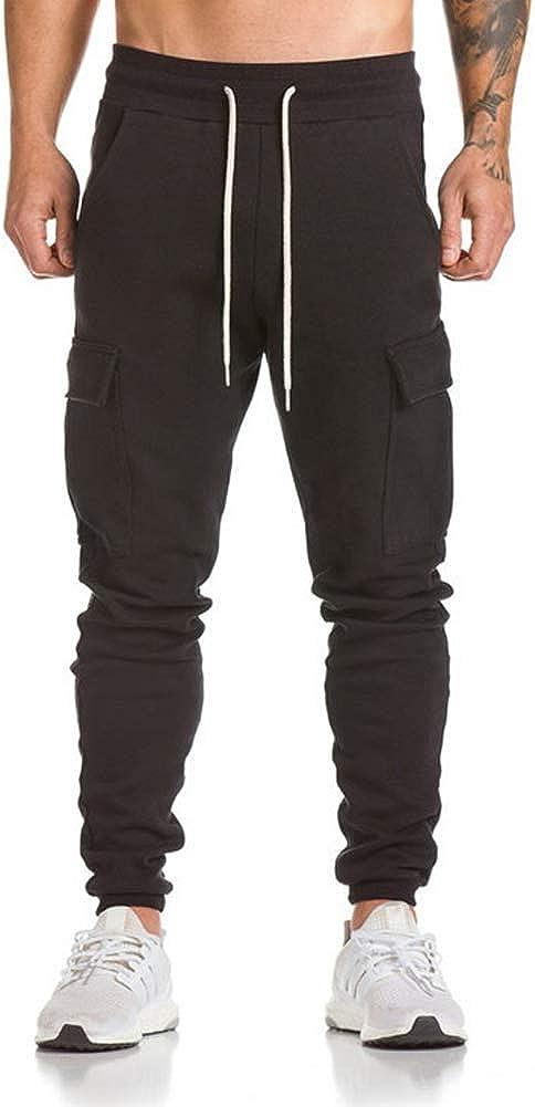 Hombre Pantal/ón Deportivo Jogger Militar Camuflaje Estilo Urbano Pantalones Casuales para Hombre Ch/ándal de Hombres