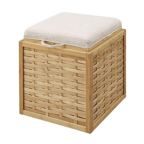 Convenience Concepts 143630W Designs4Comfort Bamboo Ottoman