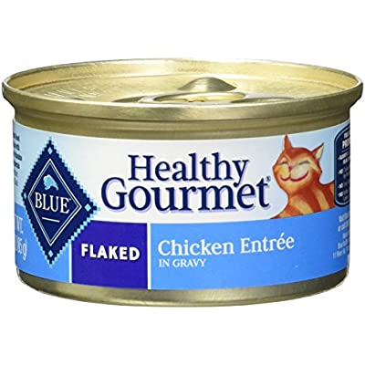 BLUE Healthy Gourmet Adult Flaked Chicken Wet Cat Food 3-oz (2 Packs of 24)